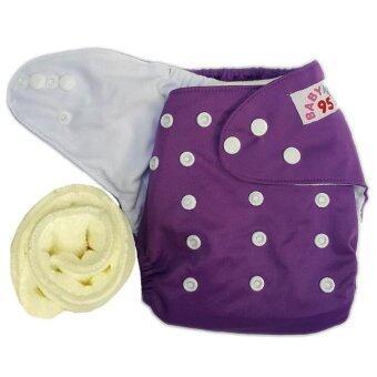 กางเกงผ้าอ้อมกันน้ำ+แผ่นซับไมโครฯ Size:3-16กก. (Purple)(Purple Others)