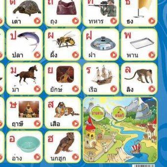กระดานสอนอักษรไทยอิเลคทรอนิกส์ พร้อมเกมส์หาพยัญชนะ มีเพลงสอน ก