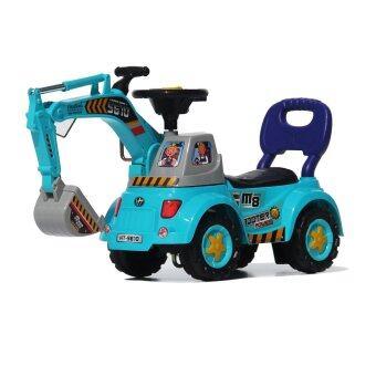 Thaiken ขาไถ รถขุดแม็คโค เด็ก (สีฟ้า)