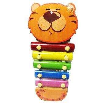 ของเล่นไม้เสริมพัฒนาการ ระนาดดนตรี ของเล่นสำหรับเด็ก (ลายเสือสีส้ม) - Wooden Xylophone Toy (Orange Tiger)