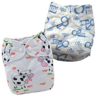 BABYKIDS95 กางเกงผ้าอ้อมกันน้ำ รุ่นดีลักส์ ไซส์เด็ก 3-16กก. เซ็ท 2ตัว แบบที่ 32