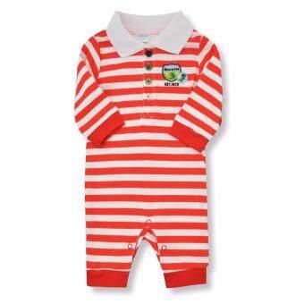 Babybrown ชุดบอดี้สูทเด็ก แขนยาว, ขายาวสีแดงสำหรับเด็ก6-9เดือน