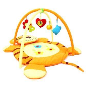 Tiger เพลย์แมท แผ่นรองนอนเล่นเสริมพัฒนาการ รุ่น เสือน้อย Tiger Mat - สีส้ม