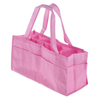 Harga Portable Baby Diaper Nappy Changing Organizer Insert Storage Bag(pink)