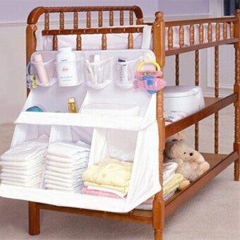 ilovebaby ห้องเตียงใหญ่เตียงเสื้อผ้าเด็กผ้าอ้อมกระเป๋าเก็บอยู่หลายเคส Funtion ไนลอนออแกไนเซอร์