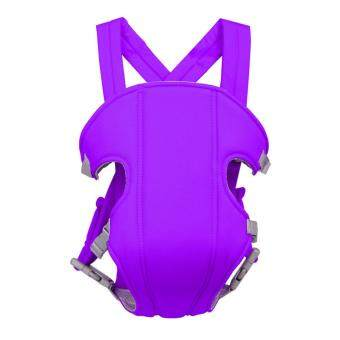 Portable Multifunction Breathable Kangaroo Baby Carrier Comfotable Infant Front Facing Backpack Carrier Sling Wrap Purple