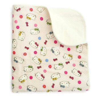 BABYKIDS95 ผ้ารองพื้นเอนกประสงค์ กันน้ำ ผ้าหนานุ่ม ซักได้ Jumbo Size 70*120 ซม. (White Kitty)