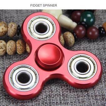 FIDGET SPINNER ของเล่นสุดฮิต ลูกข่างเสริมสร้างสมาธิแบบ 3 แฉก งานอลูมิเนียม แข็งแรง ทนทาน