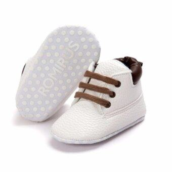 รองเท้าแฟชั่นเด็กทารก สีขาว ไซส์ s เบอร์ 11 (0-6 เดือน)