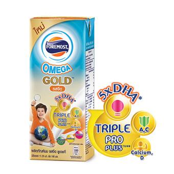 ขายยกลัง! โฟร์โมสต์ นม UHT สูตร Omega Gold 180 มล. รสจืด (24 กล่อง/ลัง) (image 0)