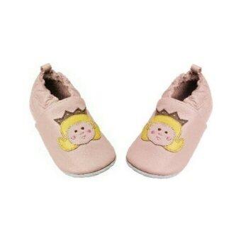 Playshoes รองเท้าเด็กหัดเดินหนังแท้ ลาย Princess (สีชมพู)