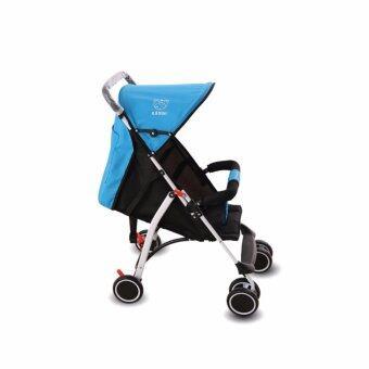 รถเข็นเด็ก baby soft 6 wheel สำหรับเด็ก 6 เดือน - 3 ขวบ รับน้ำหนัก 15kg - สีฟ้า