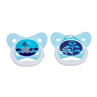 Dr.Brown'sจุกหลอกPreVent BUTTERFLY SHIELD Pacifier, Stage 1 * 0-6M - Blue, 1pk(Blue)