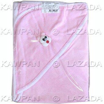 Attoon ผ้าข่นหนูห่อตัวเด็ก สีชมพู