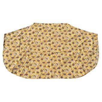 HPTJ ผ้าคลุมให้นมแบบเต็มตัว สีเหลือง ผ้าคอตตอนพิมพ์ลายดอกไม้