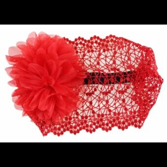 Harga Newborn Baby Kid Girl Elastic Flower Headband Hairband Hair Accessories