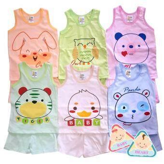 Baby heart เสื้อกล้ามเด็กอ่อน เสื้อกล้ามเด็กแรกเกิด ผ้า cotton 100%แพ็ค 6 ตัว