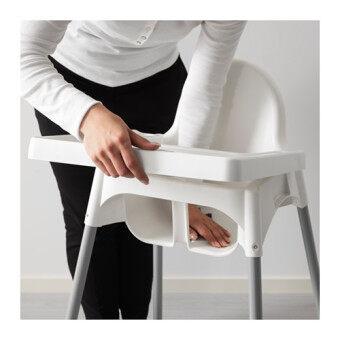 IKEA เก้าอี้ อีเกีย เก้าอี้สูง High Chair เก้าอี้ทานข้าวเด็กทรงสูง 0.6 - 4 ปีขนาด 58*62*90 ซม. พร้อมเข็มขัดนิรภัย (image 4)