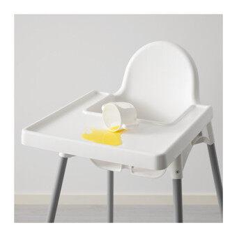 IKEA เก้าอี้ อีเกีย เก้าอี้สูง High Chair เก้าอี้ทานข้าวเด็กทรงสูง 0.6 - 4 ปีขนาด 58*62*90 ซม. พร้อมเข็มขัดนิรภัย (image 3)