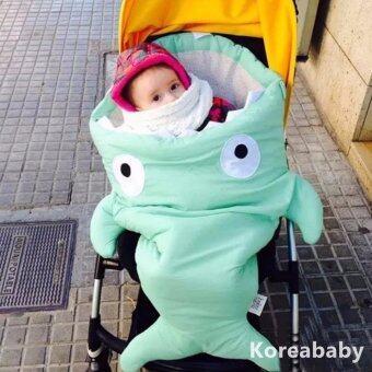 ถุงนอนเด็ก รูปปลา ถุงนอนปลาฉลาม ถุงนอนสำหรับเด็ก สีเขียวมิ้น