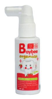 BAYBEE สเปรย์ป้องกันฟันผุสำหรับเด็ก ออร์แกนิค กลิ่นสตรอเบอร์รี่ 50ml.