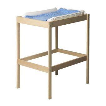 โต๊ะเปลี่ยนผ้าอ้อม, ไม้บีช, ขาว ขนาด 72x53 ซม.