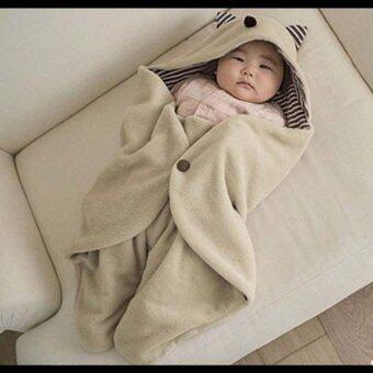 Leegoal นุ่มห่มผ้าห่มหุ้มทารกแรกเกิดเด็กหลับนอน (กากี) (ในประเทศ)