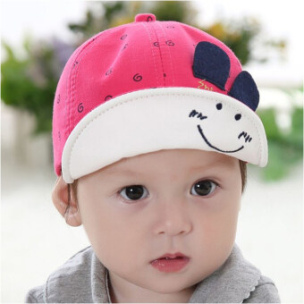 Harga Newest Summer Newborn Baby Hat Kids Cap Infant Baby Hat for Boys and Girls-rose red