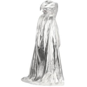 ปีศาจชุดคลุมแวมไพร์แดร็กคูล่าวิกกายาวผ้าพันคอผ้าคลุมไหล่ hoodie สำหรับวันฮาโลวีนแต่งตัวชุดแฟนซีละครบทบาทยันเงิน