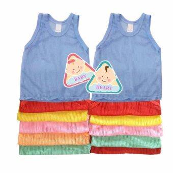 Baby heart เสื้อกล้ามรู เสื้อกล้ามเด็ก แพ็ค 12 ตัว