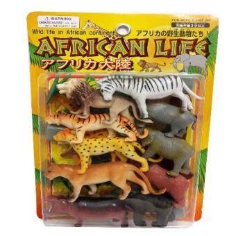 African Life สัตว์ป่าจำลองพลาสติก