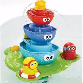 Minlane Kids Bath Toy Fountain ของเล่นในห้องน้ำ ตุ๊กตาน้ำพุ Zhi Tong Baby