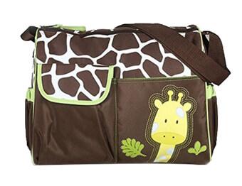 Leegoal ผ้าอ้อมเด็กแพมเพอร์สฟังก์ชันที่กระเป๋าถือกระเป๋าแม่มีเสื่อ Chaning (สีเขียว)