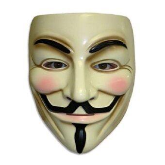 กายฟอกส์ Maske สำหรับคอสเพลย์แบบแค้นพรางครอง Karneval (สีเหลือง)