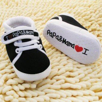 Baby Touch รองเท้าเด็ก รองเท้าหัดเดิน เลิฟเลิฟ (ดำ)