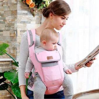 sureshopping เป้อุ้มเด็ก เป้สะพายเด็ก เป้อุ้มทารก เป้อุ้ม Baby Carrier รุ่นขายดี สีชมพู พลาสเทล (image 1)