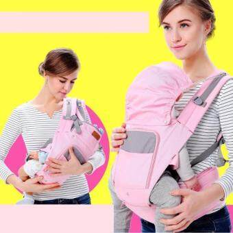 sureshopping เป้อุ้มเด็ก เป้สะพายเด็ก เป้อุ้มทารก เป้อุ้ม Baby Carrier รุ่นขายดี สีชมพู พลาสเทล (image 3)