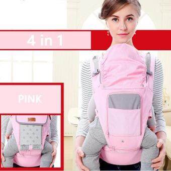 sureshopping เป้อุ้มเด็ก เป้สะพายเด็ก เป้อุ้มทารก เป้อุ้ม Baby Carrier รุ่นขายดี สีชมพู พลาสเทล (image 2)
