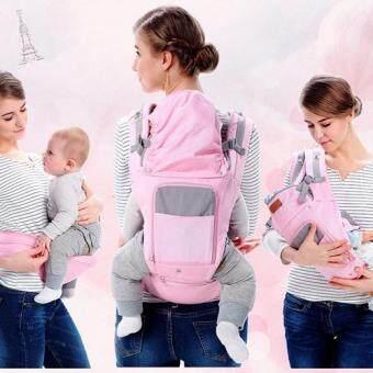 sureshopping เป้อุ้มเด็ก เป้สะพายเด็ก เป้อุ้มทารก เป้อุ้ม Baby Carrier รุ่นขายดี สีชมพู พลาสเทล (image 4)