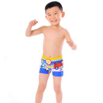 DUDU&MUMU ชุดว่ายน้ำสำหรับเด็กชาย (สีน้ำเงิน)