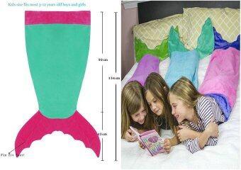 Leegoal หางนางเงือกผ้าสำหรับการแคมป์เด็กถุงนอน สีเขียว และสีแดง
