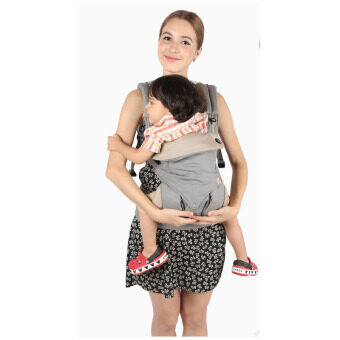 ผลิตเด็กย้อนกลับ ergo-สี่สไตล์ 360 baby เด็กผ้าสำลีขนเครื่องมัลติฟังก์ชันส่วน (สีเทา) (image 1)
