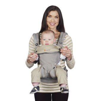ผลิตเด็กย้อนกลับ ergo-สี่สไตล์ 360 baby เด็กผ้าสำลีขนเครื่องมัลติฟังก์ชันส่วน (สีเทา) (image 0)