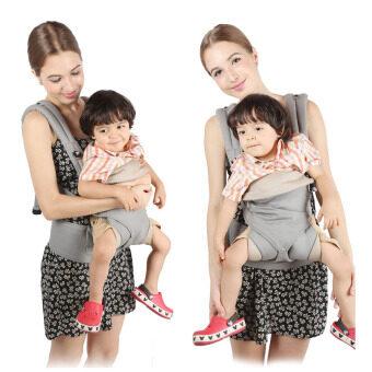 ผลิตเด็กย้อนกลับ ergo-สี่สไตล์ 360 baby เด็กผ้าสำลีขนเครื่องมัลติฟังก์ชันส่วน (สีเทา) (image 3)