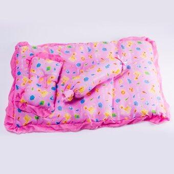 Babi care ชุดที่นอนเด็กปิคนิก มีหูหิ้ว ที่นอน หมอน หมอนข้าง ( 1 ชุด ) สีชมพู