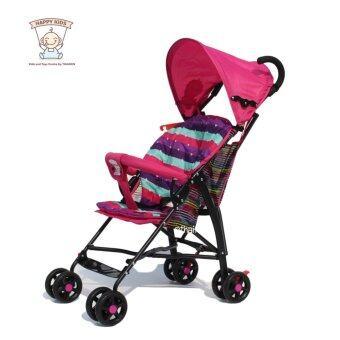 Thaiken รถเข็นเด็กพับได้เบาะนุ่มสองชั้น Foldable Mini Baby Stroller (Pink)