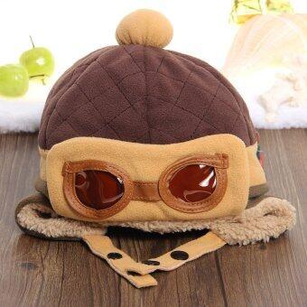 WiseBuy เด็กหนุ่มเด็กสาวหนาว ๆ หมวกปิดหูหมวกนักบินนักบินสวมหมวกบีนนี่อบอุ่น (image 3)