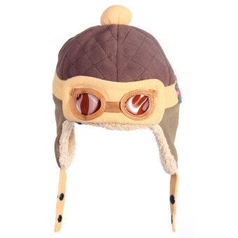 WiseBuy เด็กหนุ่มเด็กสาวหนาว ๆ หมวกปิดหูหมวกนักบินนักบินสวมหมวกบีนนี่อบอุ่น (image 0)