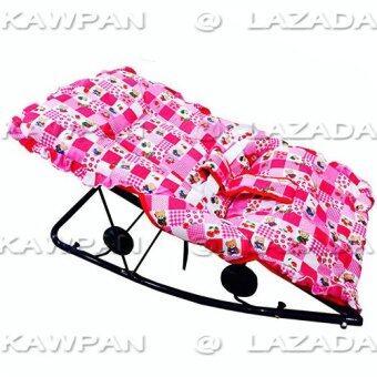 k.baby เปลโยก ปรับ 3 ระดับ นั่ง/เอน/นอน (สีชมพู คละลาย)