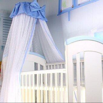 ขายดี Baby mosquito Bow net Princess girls child bed crib tent canopy for any beds 8M pink - Intl ขายถูก